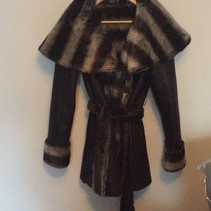 Black warm soft winter coat